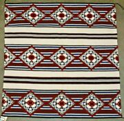 Navajo Spiderwoman Cross Chiefs Pattern Blanket , Collected 6/89 Nora Young