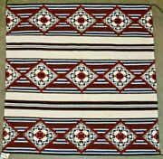 Navajo Spiderwoman Cross Chiefs Pattern Blanket Collected 6/89 Nora Young