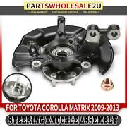 Front Left Lh Hub Bearing Knuckle Assembly For Toyota Corolla Matrix 2009-2013