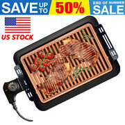 Smokeless Electric Grill Nonstick Rapid Heat Indoor Outdoor Bbq Barbecue Camping