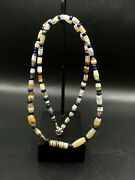 Old Ancient Antique Old Banded Agate Beads Necklace