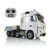 1/14 Lesu Hopper Sound Radio Hercules Actros Cab Tractor Rc Metal Chassis Truck