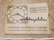 Manual For Vtg Airguide Weather Instrument Barometer Thermometer Clock