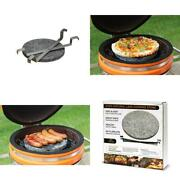 Small Dual-purpose Lava Cooking Stone/heat Deflector For Cadet Kamado Grill