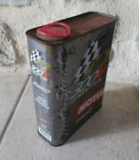 Vintage Original Motul Oil Can Metal Tin 300v Competition Auto Motorcycles 2