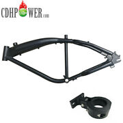 Cdhpower Gas Bicycle Frame 3.4l Fuel Tank And Racing Front Motor Mount 1.65-black