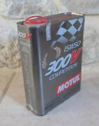 Vintage Original Motul Oil Can Metal Tin 300v Competition Auto Motorcycles 3