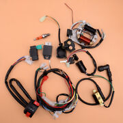 Cdi Wire Harness Stator Wiring Spark Plug Solenoid Kit Fit For 50cc-125cc Atv