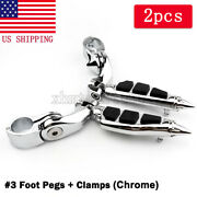 Stiletto Foot Pegs Rest Touring Male Peg Mount For Harley Davidson Motorcycle Us
