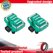 2 Fd487 Green Ignition Coil For 1989-2003 Ford Escort Zx2 Coupe 2-door L4 2.0l