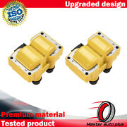 2 Fd487 Yellow Ignition Coil For 89-03 Ford Escort Zx2 Coupe 2-door L4 2.0l