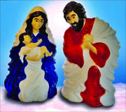 31 Pre Lit 2-pc.holy Family Nativity Scene Durable Outdoor Large Christmas Yard