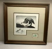 1976 Michigan - State Duck Stamp Print Warbach Oscar First Of State Remarque