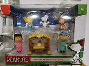 Peanuts Charlie Brown Nativity Figures Deluxe Set Christmas Pageant 7 Piece Set