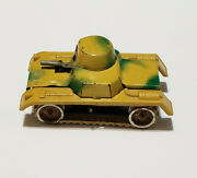 Vintage Gama Windup Toy Tank Made In Germany Normandy Camo