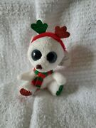 Ty Mwmt Frost The Christmas Bear Beanie Boo Key Clip- 3.5 Boos- Claire's Exclu.