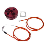 Red Cnc Cylinder Head And Throttle Line Fit 80cc Motorized Bicycle Engine