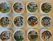 Peanuts Magical Moments And Danbury Mint Plates Complete Set Of 12 Plates