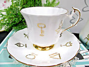 Taylor And Kent Tea Cup And Saucer Red Rose Cup Of Fortune England1960s Teacup