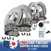 Front And Rear Brake Calipers + D/s Rotors + Pads For 2003 - 2009 Toyota 4runner