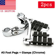 1-1/4 Long Angled Highway Foot Pegs Fit For Harley Road King Fatboy Softail Us