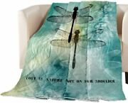 Luxury Quilted Comforter Bedspread-thin Soft Cozydragonfly Printed Quote Love I