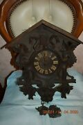 Antique Vintage Large Cuckoo Clock For Parts Or For Project