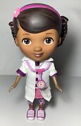 """Disney Just Play Doc Mcstuffins 9"""" Doll,toy Doctor With White Coat And Stethoscope"""