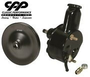 New Bbc Sbc Chevy Black Saginaw Style Power Steering Pump Single Groove Pulley