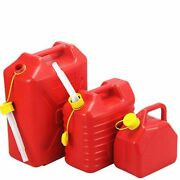 Car Gasoline Oil Container Motorcycle Jerry Can Red Plastic Fuel Tanks Canister