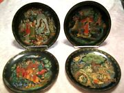 Hand Painted Russian Fairy Tale Collector Plates