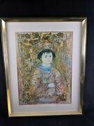 Sold Out Michio By Edna Hibel Exclusive Framed Print Edition Of 1000