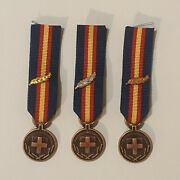 Greece Greek Army N.c.o.s' And W.o.s' Long Service And Good Contact Miniature Medals