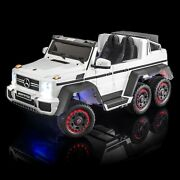 Supertrax® Licensed Mercedes Benz® G63 6x6, 6wd Battery Powered Ride On - White