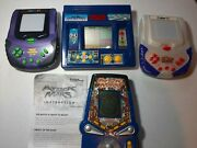 Lot Of 4 Vintage Handheld Electronic Games Attack From Mars