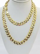 Solid 9mm 14k Gold Cuban Curb Link Chain Necklace 20-30 Authentic 14kt Menand039s