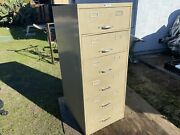 Vintage Art Metal Sturdy Metal Card Drawer Small Parts Or Tool Cabinet
