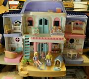 Vintage Fisher Price Mansion Dollhouse Family Accessories Toys Nice 4618