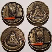Lot Of 2 Coins Doj Fbi Professional Staff 3d High Relief Owl Challenge Coin