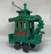 Toonerville Trolley Vtg 1920s Dent Green Metal Cast Iron Toy Train Fontaine Fox