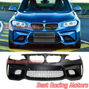 M2 F87 Style Front Bumper + Pdc Fit 14-21 Bmw 2-series F22 Coupe F23 Cabriolet