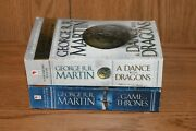 George R R Martin 2 Paperback Books A Game Of Thrones A Dance With Dragons