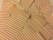 45 Rpm Juke Box Blank Un-used Old Carded Hit Song Title Strips Collection
