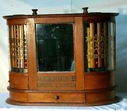 Merrick Twin Revolvng Turbine Sewing Thread Spool Cabinet, General/country Store
