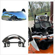 Motorcycle Windshield 180° Blind Spot Rearview Mirror Wide Angle Safety Mirrors