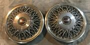 1981 Datsun 810 15 Wire Hubcaps - Set Of 2