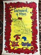 1969 Tournament Of Roses Usc Ohio State Poster - Free Shipping