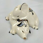 Adorable Ceramic Pig Salt And Pepper Shakers By D. Garcia Acoma, Nm