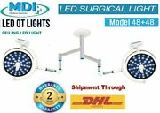 48+48 Surgical And Examination Led Ot Lights Surgery Digital Control Panel Light@