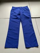 Flint And Tinder Blue Casual Golf Polyester Pants Size 34 32 Inseam